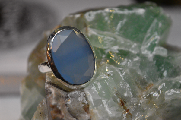 Chalcedony Adora Ring Oval - Jewels & Gems