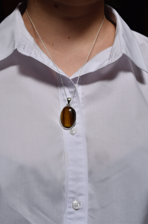 Tiger's Eye Ariel Pendant - Reg. Oval - Jewels & Gems
