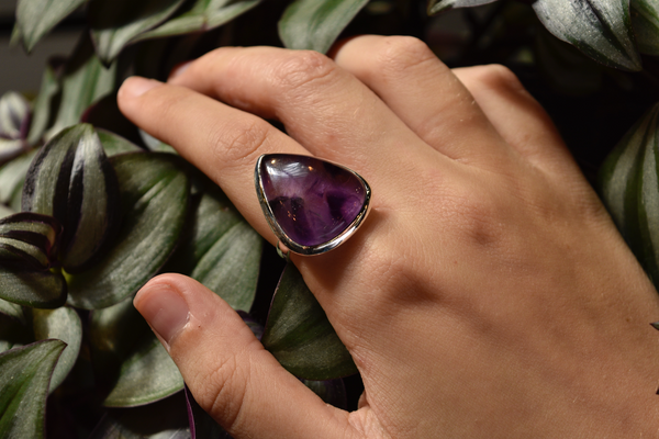 Trapiche Amethyst Ariel Ring - Jewels & Gems