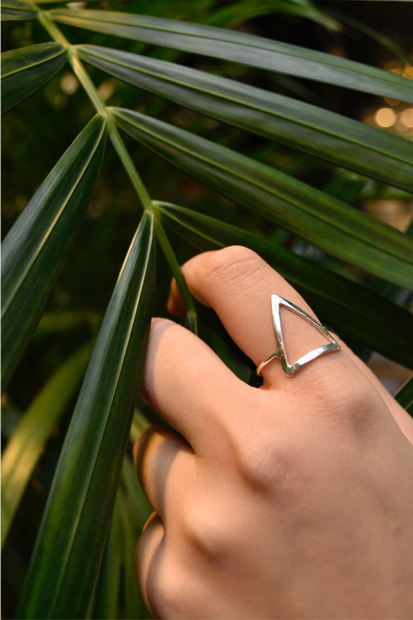 Minimal Triangle Ring - Jewels & Gems