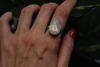 Raw Moonstone Akoni Ring - Large Drop - Jewels & Gems