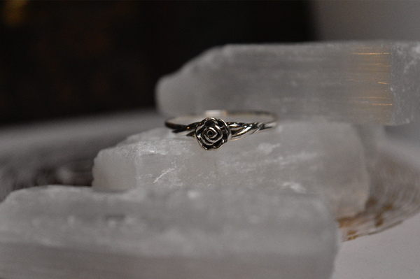 Minimal Rose Ring (US 8 & 8.5) - Jewels & Gems