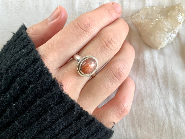 Sunstone Brea Ring - Small Oval - Jewels & Gems