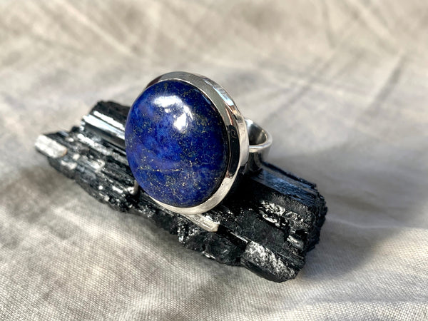 Lapis Lazuli Naevia Ring - Round - US 6.5 (One of a kind) - Jewels & Gems