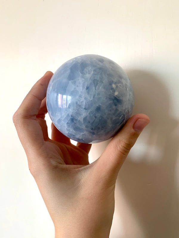Large Blue Calcite Sphere (Dublin only) - Jewels & Gems