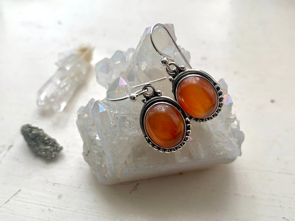 Carnelian Gala Earrings - Jewels & Gems