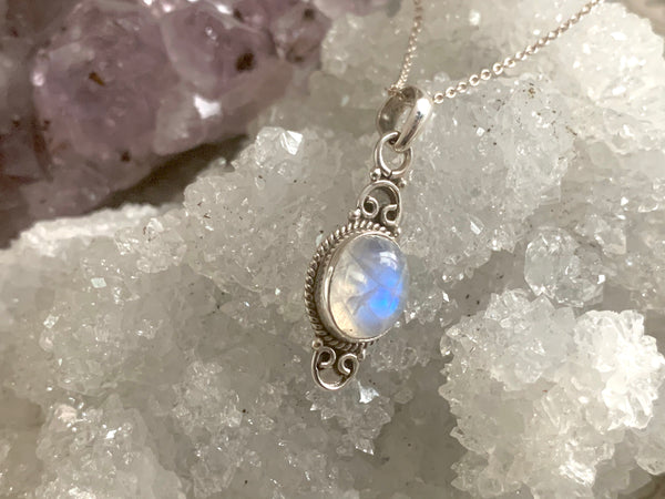 Moonstone Agrippa Pendant - Jewels & Gems