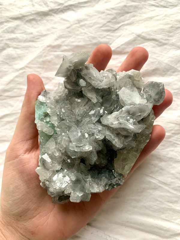 Silver & Green Fluorite Large Cluster (Dublin only)