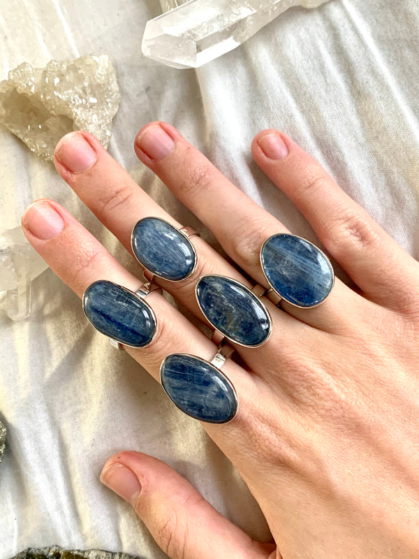 Kyanite Akoni Rings - Freeform (One of a kind) - Jewels & Gems