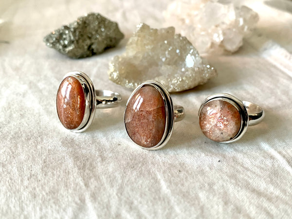 Sunstone Brea Mixed Rings (One of a kind) - Jewels & Gems
