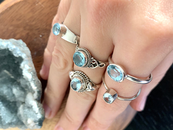 Blue Topaz Mixed Rings - Jewels & Gems