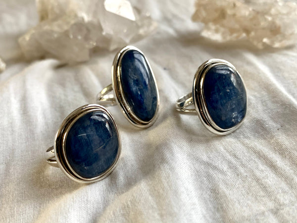 Kyanite Brea Mixed Rings - US 7 & 6.5 (One of a kind) - Jewels & Gems