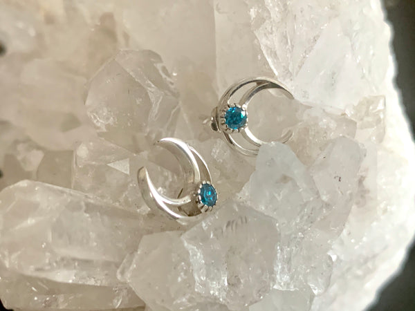 Blue Topaz Araceli Studs - Jewels & Gems