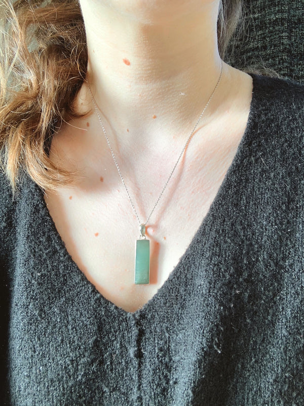 Amazonite Nerilla Pendant - Jewels & Gems