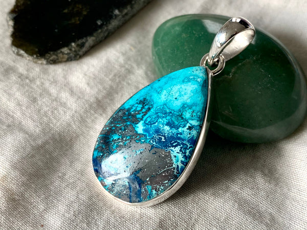 Shattuckite Akoni Pendant - Teardrop (One of a kind) - Jewels & Gems