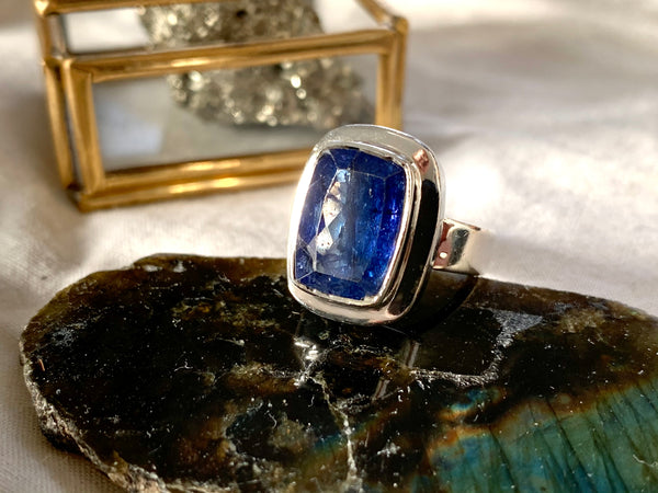 Tanzanite Ansley Ring - Med. Rectangle - US 6 (One of a kind) - Jewels & Gems