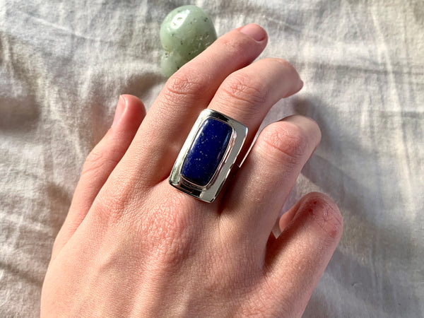 Lapis Lazuli Dinah Ring - Rectangle - Jewels & Gems