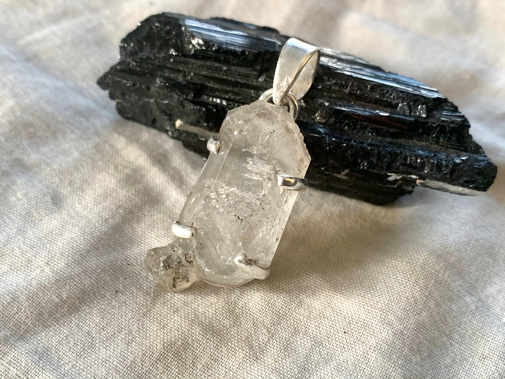 Herkimer Diamond Sanaa Pendant - Freeform B - Jewels & Gems