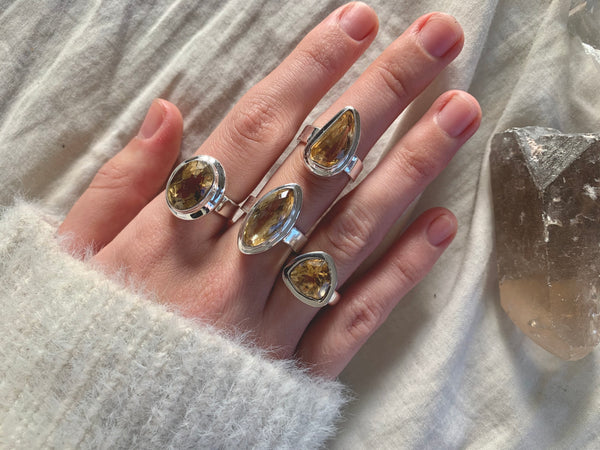 Citrine Ansley Rings - Mixed (US 6.5 & 7) - Jewels & Gems