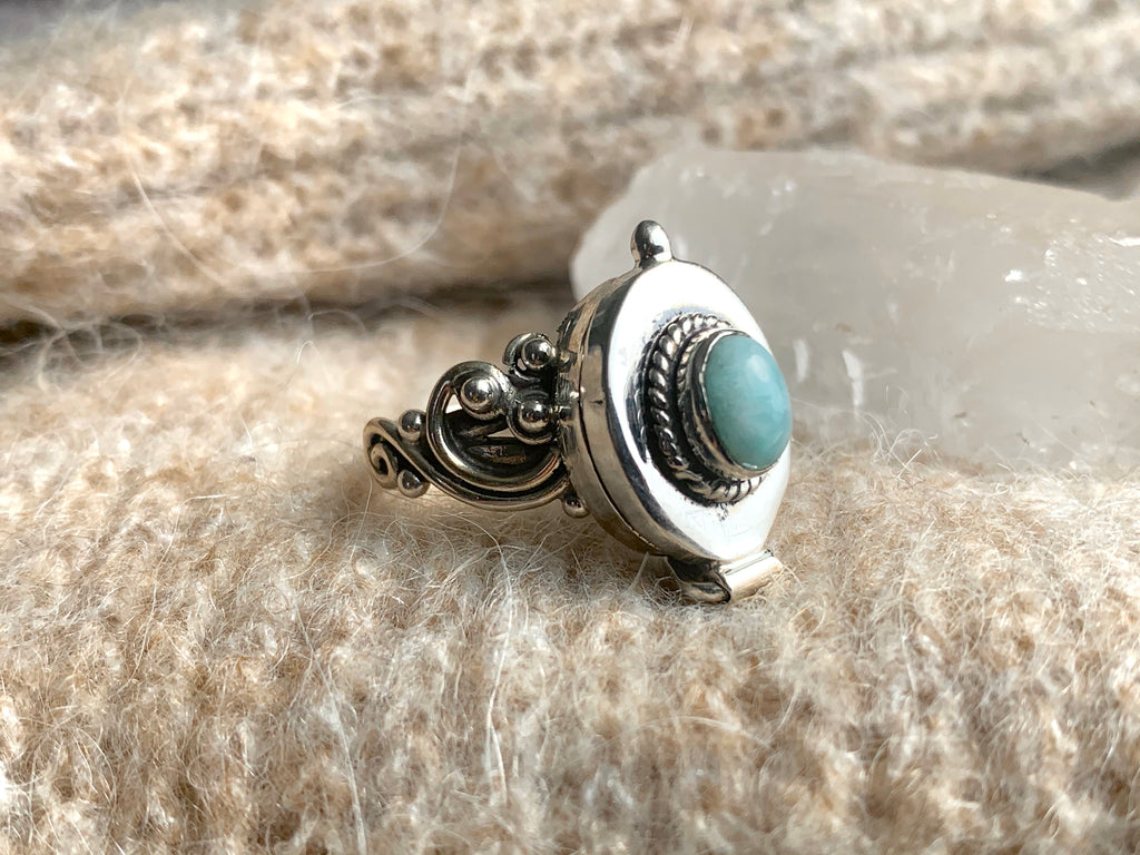 Larimar Poison Ring (Limited Edition) - Jewels & Gems