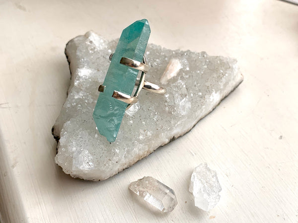 Blue Aura Quartz Sanaa Ring (Large)