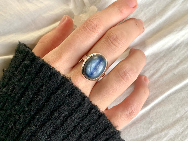 Kyanite Ariel Ring - Oval - Jewels & Gems