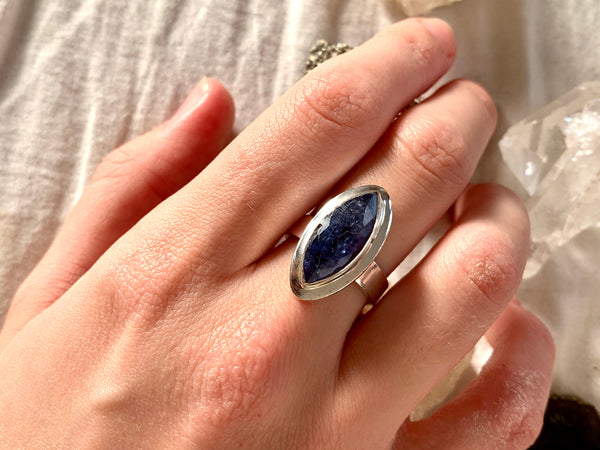 Tanzanite Ansley Ring - Marquise - US 7 (One of a kind) - Jewels & Gems