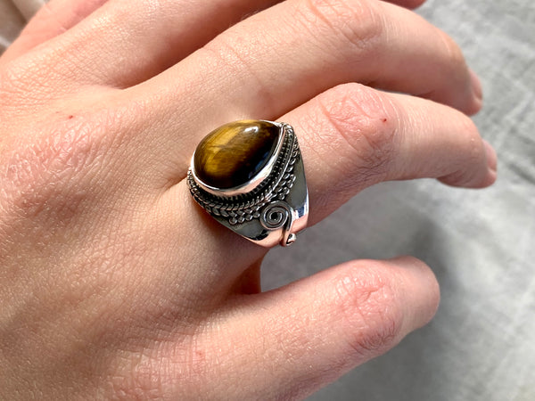 Tiger's Eye Calliope Ring - Jewels & Gems
