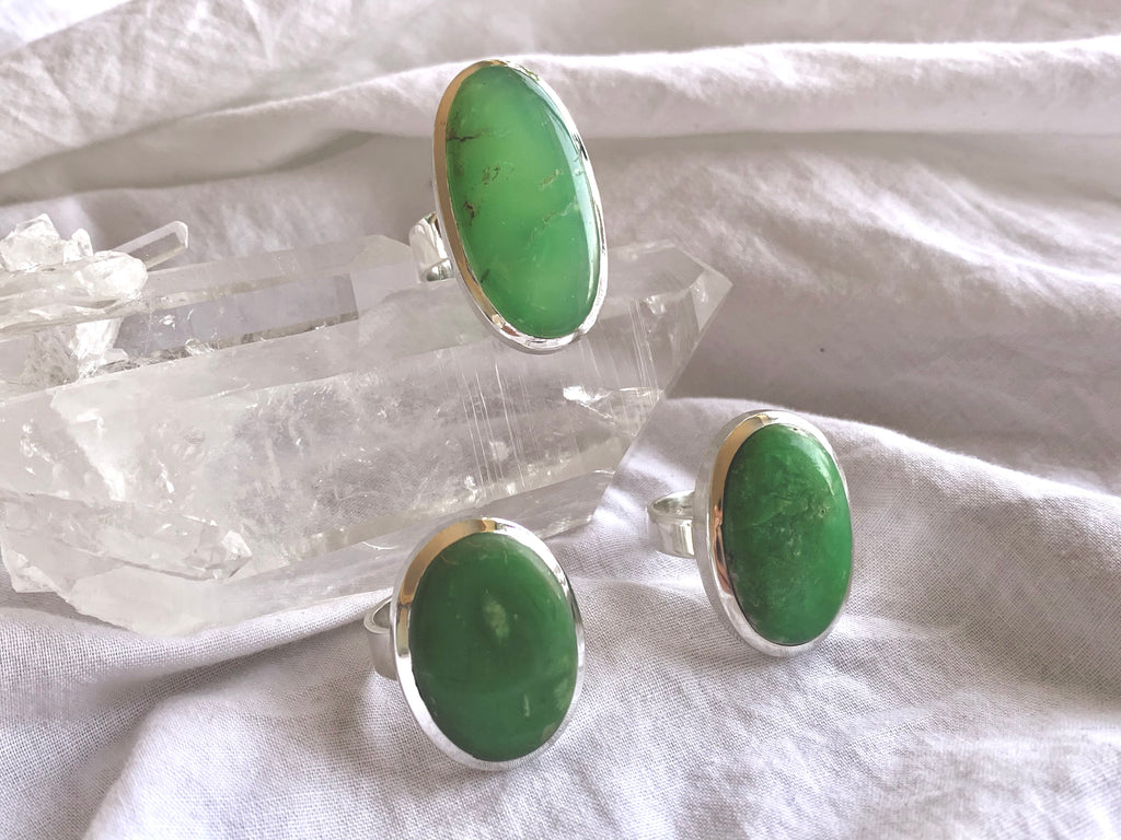 Chrysoprase Naevia Ring - Oval - Jewels & Gems