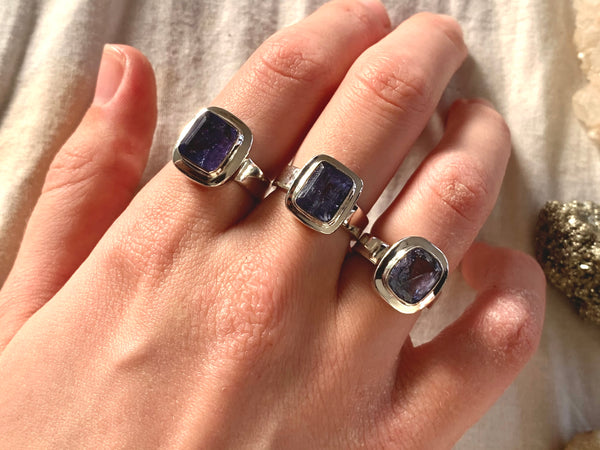 Tanzanite Ansley Rings - Small Rectangle (One of a kind) - Jewels & Gems