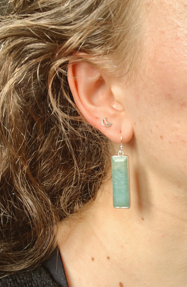 Amazonite Nerilla Earrings - Jewels & Gems