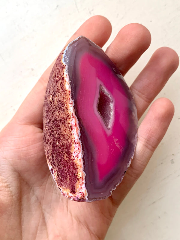 Pink Agate Geode (Ireland only) - Jewels & Gems
