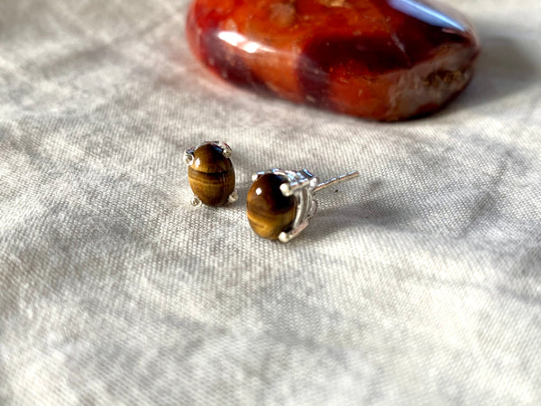 Tiger's Eye Sanaa Studs - Jewels & Gems