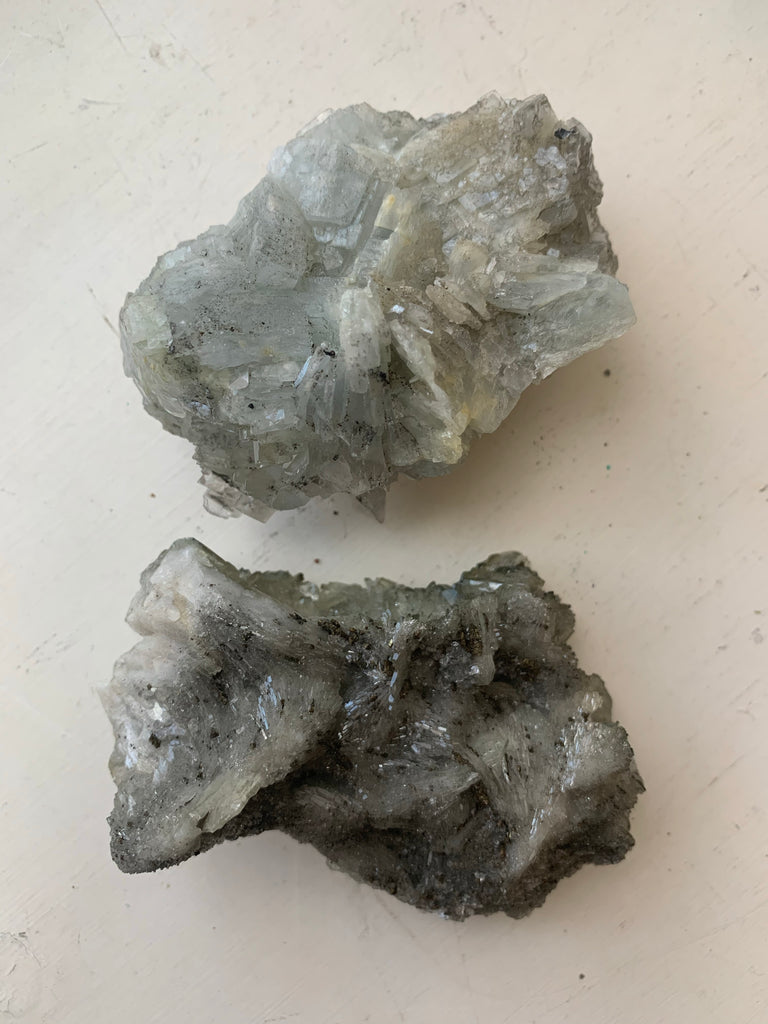 Blue Barite Cluster - Jewels & Gems