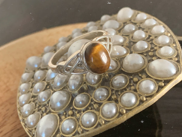 Tiger's Eye Brigid Ring - Jewels & Gems