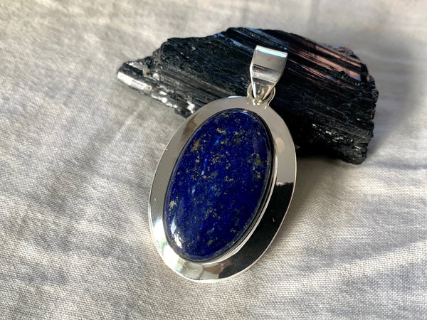 Lapis Lazuli Medea Pendant - Reg. Oval (One of a kind) - Jewels & Gems