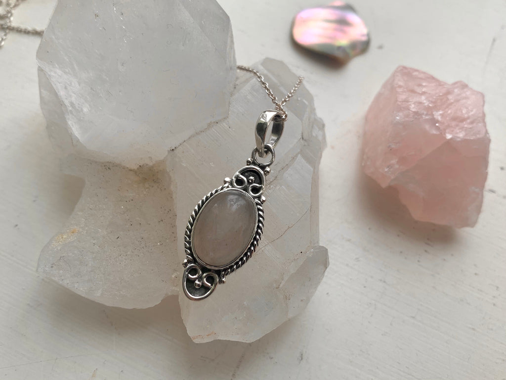 Rose Quartz Agrippa Pendant - Jewels & Gems