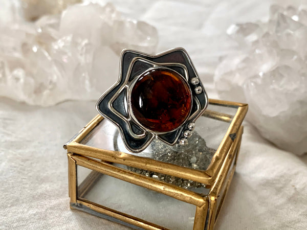 Amber Lithuise Ring - US 6.5 (One of a kind) - Jewels & Gems