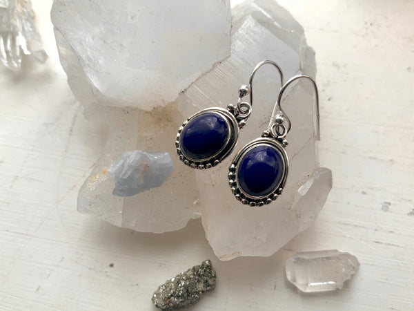 Lapis Lazuli Gala Earrings - Jewels & Gems