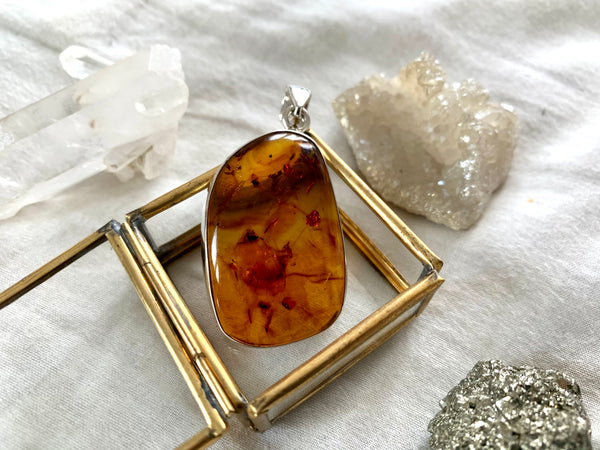 Amber Akoni Pendant - Large Freeform - Jewels & Gems