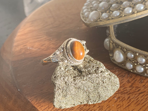 Tiger's Eye Fannia Ring - Jewels & Gems