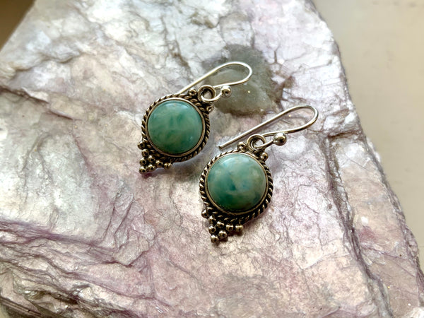 Larimar Cassia Dot Earrings - Jewels & Gems