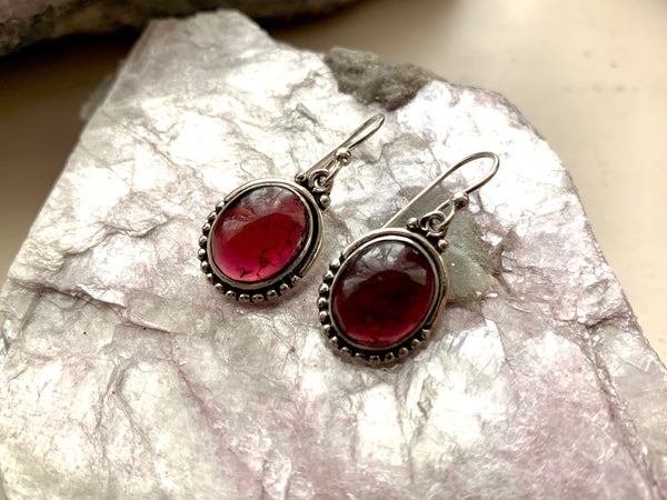 Garnet Gala Earrings - Jewels & Gems