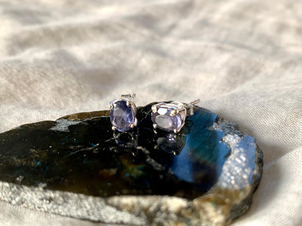 Iolite Sanaa Studs - Jewels & Gems