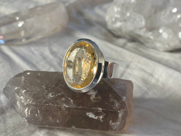 Citrine Bethan Ring - Large Oval (US 9.5) - Jewels & Gems