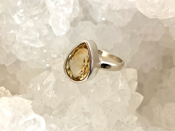 Citrine Sabina Ring - Teardrop - Jewels & Gems
