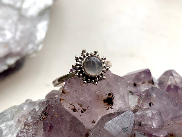 Rose Quartz Mini Sole Ring - Jewels & Gems
