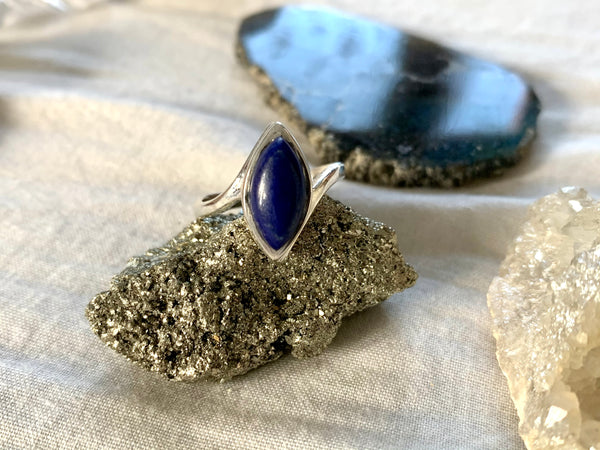Amethyst / Lapis Lazuli / Moonstone Meira Ring - Jewels & Gems