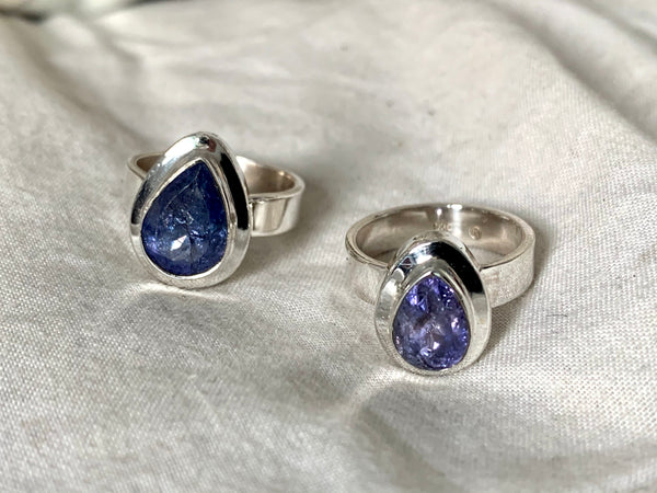 Tanzanite Ansley Ring - Small / Medium Teardrop - Jewels & Gems