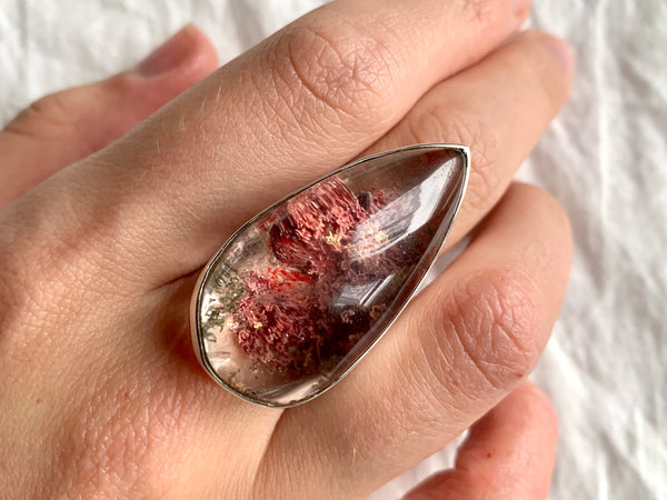 Garden Quartz XLarge Akoni Ring - US 8 - Jewels & Gems